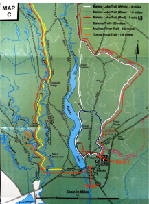 Course Map (Blow up of start/finish)